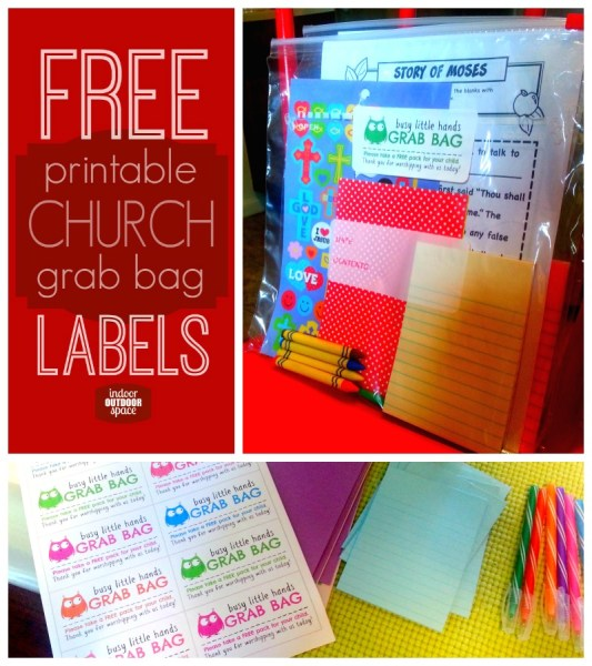childrens church grab bag free printable labels