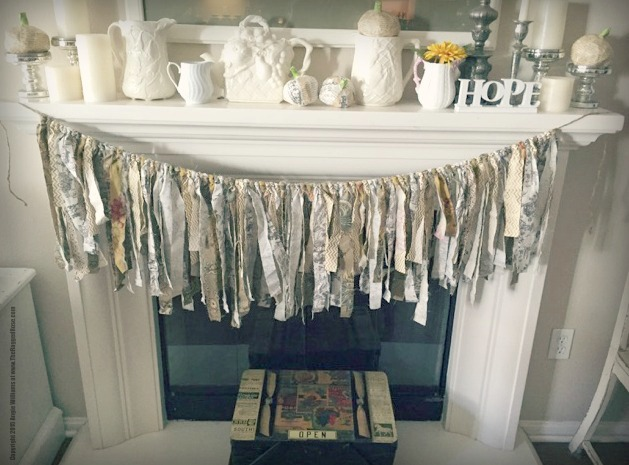 Fabric Fall upcycled banner for your mantel