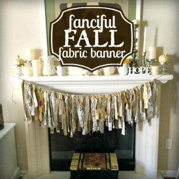 Fanciful Fall Fabric Banner Craft Tutorial