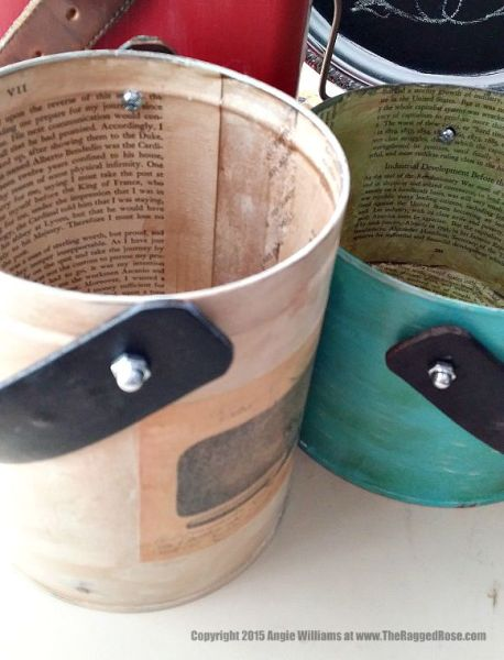 chalk painted bucket with handles craft tutorial