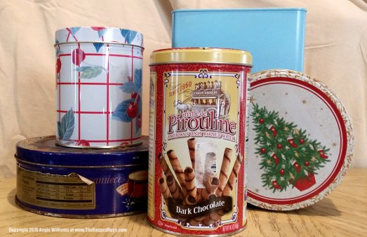 upcycle old holiday and christmas tins with chalk paint