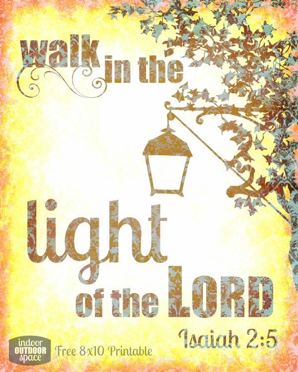 photo relating to Free Printable Scripture Verses known as Wander within just the Light-weight No cost Scripture Verse Printable Indoor