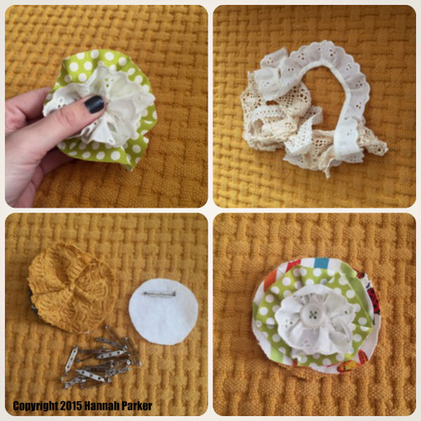 Easy Fabric Flowers Tutorial