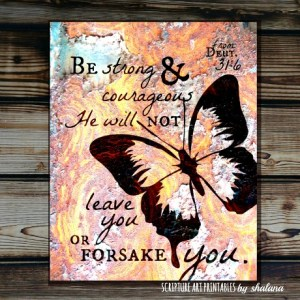 8x10 Be Strong and Courageous