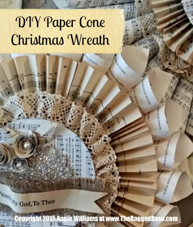 Paper Cone Christmas Wreath