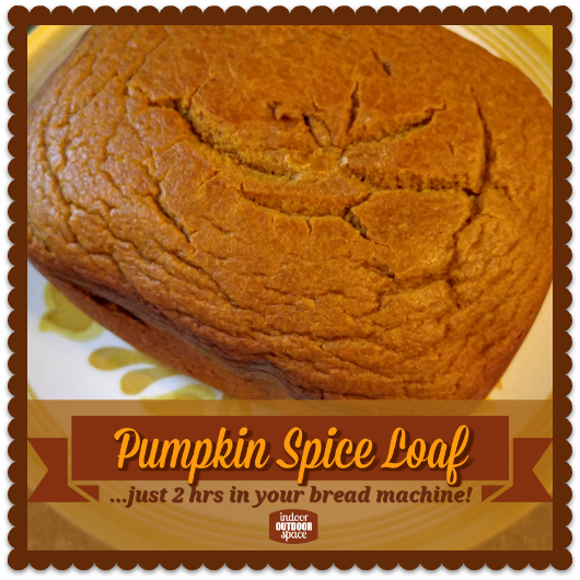 Pumpkin Spice Loaf Oster Bread Machine Recipe