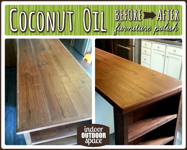 Use Coconut Oil as Furniture Polish Tips Before and After Photo