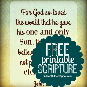 Free Scripture Art Download to Print from John 3:16