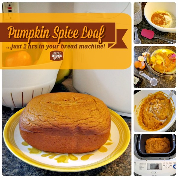 Pumpkin Spice Loaf Bread Step by Step Recipe for Breadmachines at Indoor Outdoor Space
