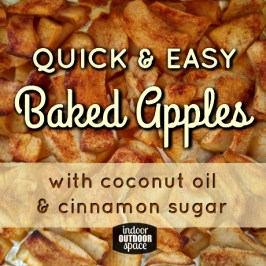 Quick and easy vegan baked cinnamon spice apples