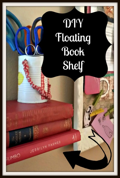 Floating Shelf of Books DIY Craft Tutorial