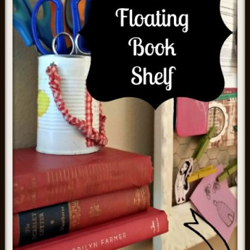 Make a Floating Shelf with Books