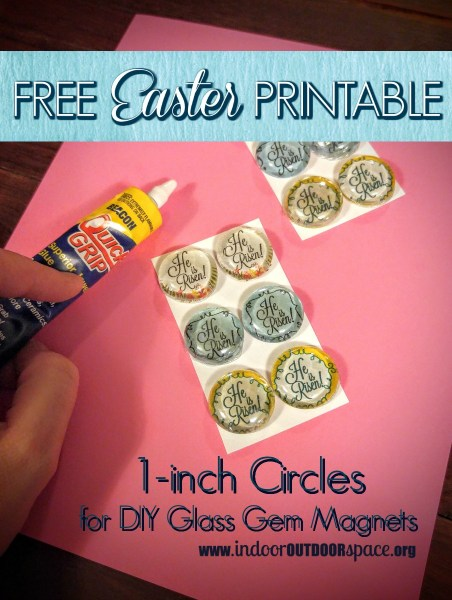 DIY Glass Gem Magnet Craft with Free Easter Printable at Indoor Outdoor Space