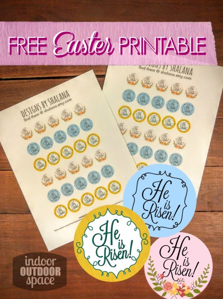 Free He is Risen Scripture Printable for 1 inch Magnets and Crafts at Indoor Outdoor Space