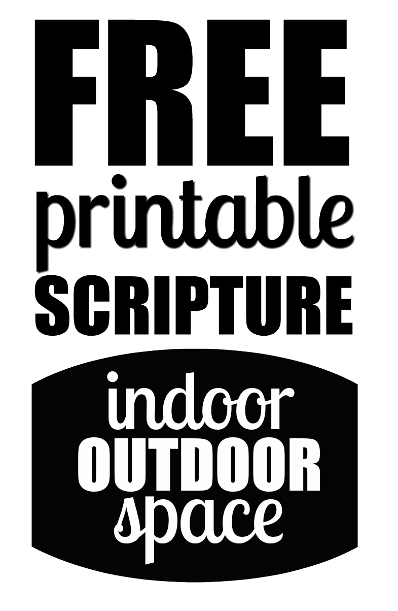 picture relating to Free Printable Scripture Word Art known as Free of charge Printables Indoor Out of doors House