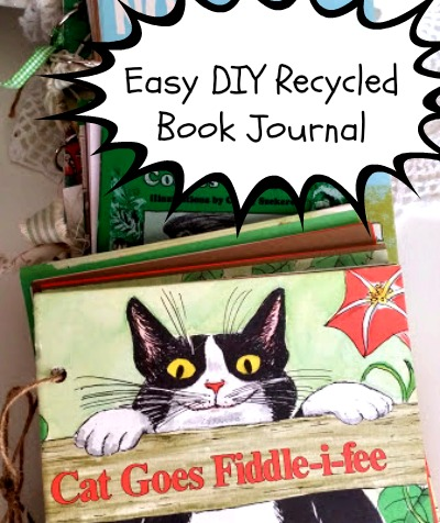 DIY Recycled Book Journal Craft Tutorial