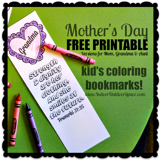Proverbs 31 Mothers Day Scripture Coloring Bookmarks