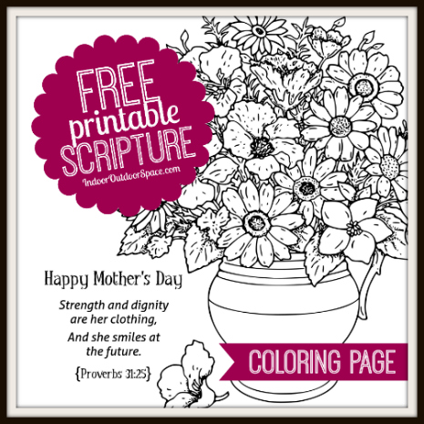 Proverbs 31 Mothers Day Kids Coloring Page