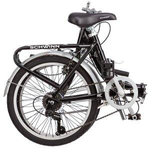 schwinn 20-inch loop folding bike, commuter bike, camping, glamping, riding, portable,