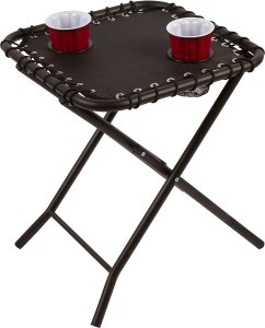 glamping, tailgating, textaline, camping, side table, drink holders,
