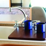 Camco Oak Accents or Bordeaux Finish RV Sink Cover Convert Your Camper Sink to Extra Counter Space