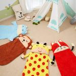 Fantasy Fields Plush Kids Sleeping Bag, Fox, Giraffe, Monkey, Hippo