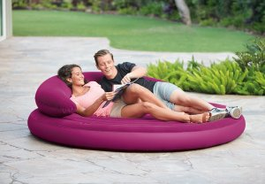 camping, glamping, inflatable, lounge, daybed, tent camping