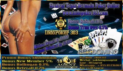 Startegi Tepat Bermain Permainan Poker online