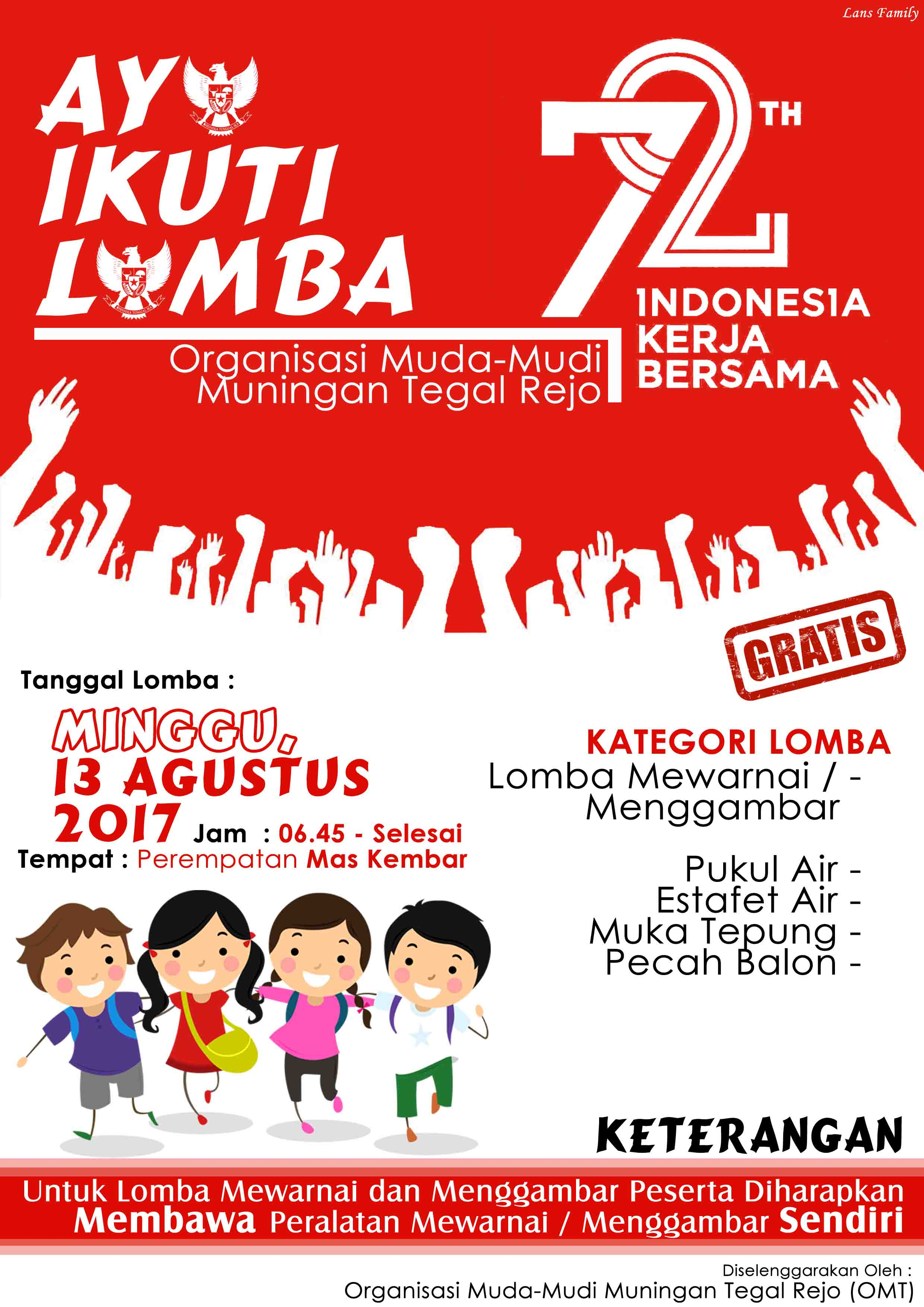 Contoh Poster Lomba 17 An Poster 17 Agustus