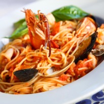 resep spaghetti seafood saus kari