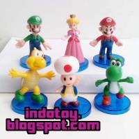 >Jual Mario Bros Figure isi 6 seri 2