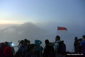 at the top of the mount batur