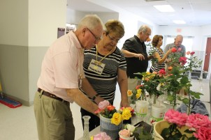 John and Donna getting their roses ready for Rosefest