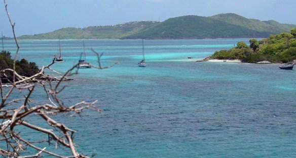 Widok na Hoof Chanel i wyspy Petit Rameau i Petit Bateau