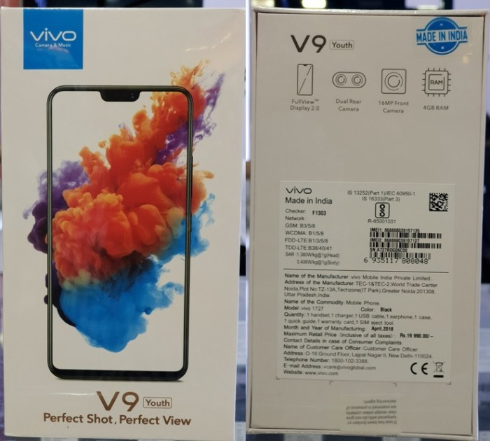 Vivo V9 Youth Retail box