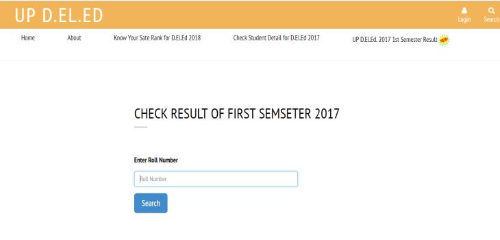 UP D.El.Ed 2017 1st sem Result
