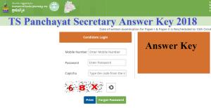 Telangana Panchayat Secretary Answer Key 2018