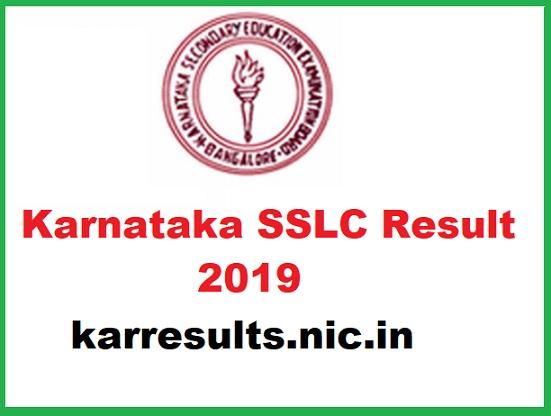 karresults.nic.in sslc Result 2019