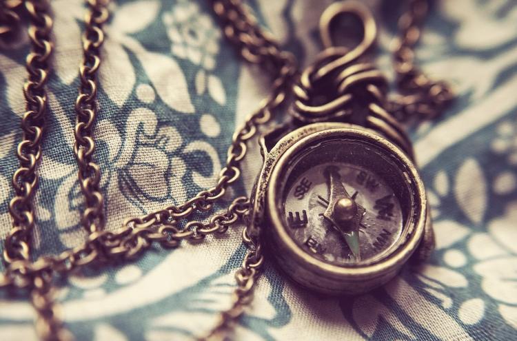 Veiledningssamtale, bilde av kompass