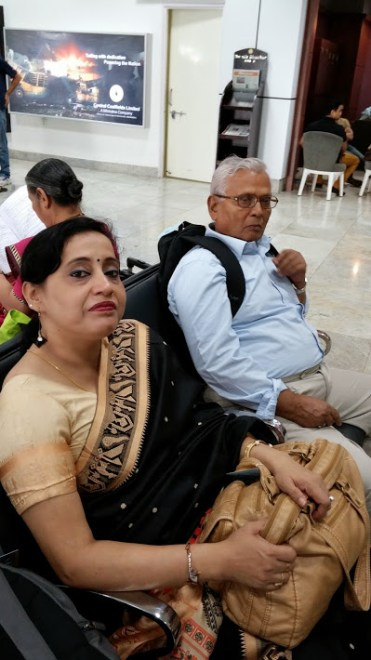 Jaya & Baba at Ranchi airport