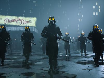 Dark futuristic army
