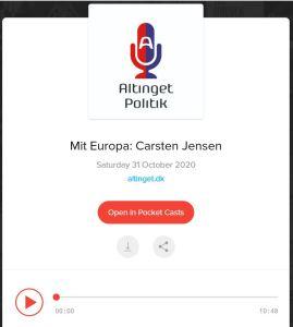 Link til Altingets podcast med Carsten Jensen