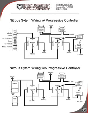 Wiring with and without a progressive controller