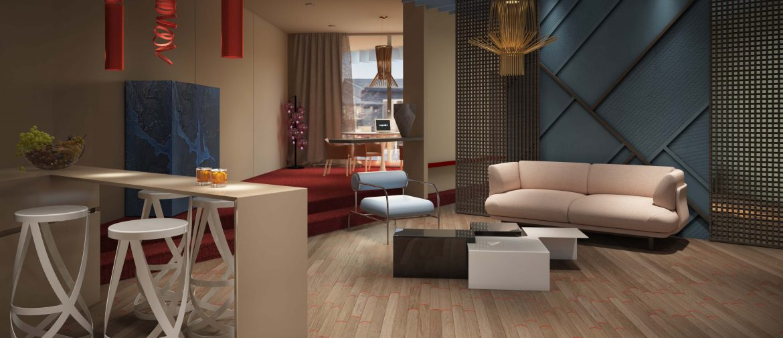 Business suite: livingroom/studio