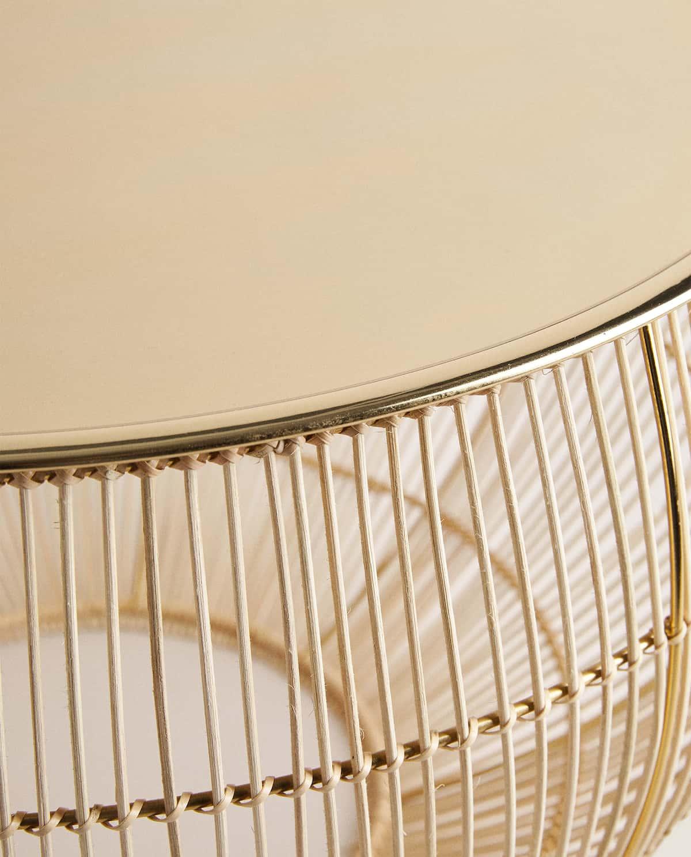Tavolino con vassoio dorato Zara Home