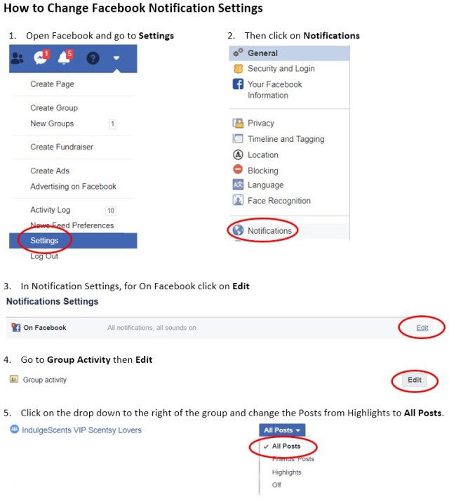 Changing Facebook Closed Group Notification Settings