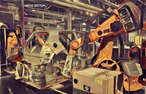 factory assembly line watermark | Indus Dictum