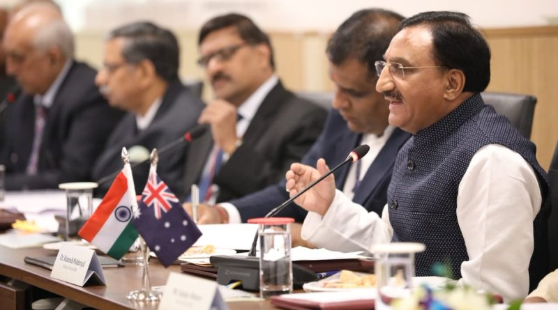 HRD Min holds bilateral talks with Australia on education, co-chairs AIEC Meet