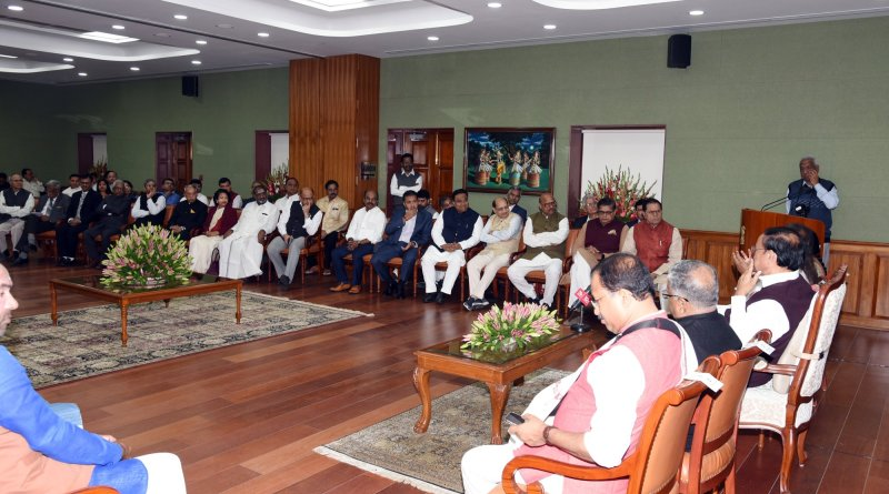 Ravi Shankar meets VP, Ministers, MPs, Senior Govt & DRDO Officials: Talks yoga & spirituality