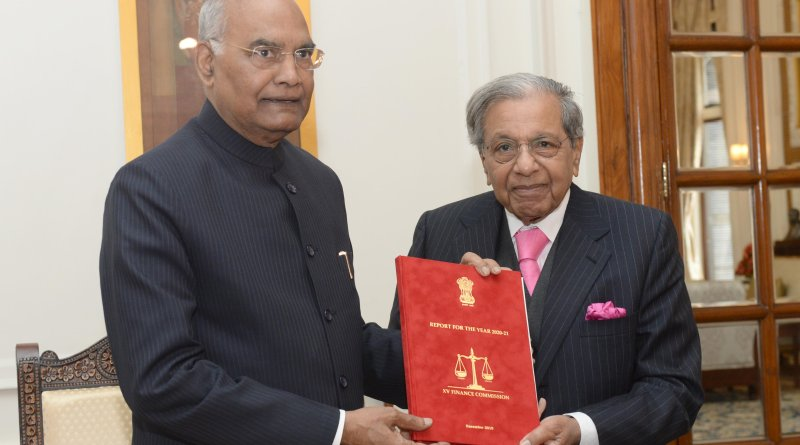 15th Finance Commission submits report for 2020-21 to President Kovind